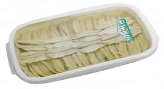 Filetti di alici marinate (Marinierte Sardellenfilets)