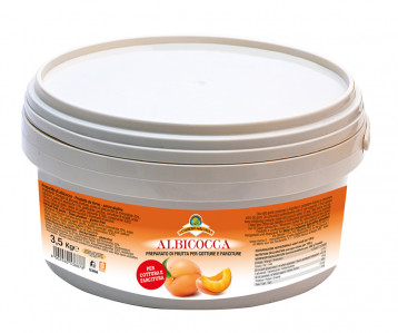 Albicocca preparato di frutta per cottura e farciture – Apricot Fruit Filling for Baking Bucket 3500 g nt. wt.