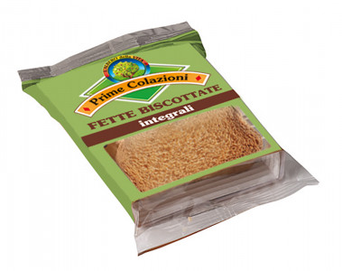 Fette biscottate integrali – Whole-grain Crisp Toast Package of 2 pcs crisp toast, 18 g nt. wt.