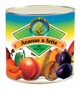 Ananas a fette -  Pineapple Slices Tin 850 g nt. wt.