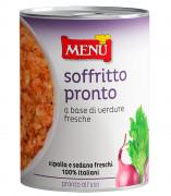 Soffritto pronto a base di verdure fresche (Röstgemüse, Fertigmischung aus frischem, klein geschnittenem Gemüse)