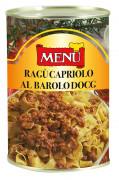 Ragù di Capriolo al Barolo D.O.C.G. (Boloñesa de corzo al vino Barolo D.O.G.C.)
