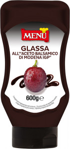 Glassa all'aceto balsamico - Balsamic vinegar glaze Top Down squeeze bottle 600 g nt. wt.