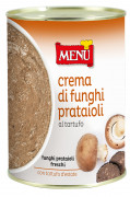 Crema di funghi prataioli con tartufo - Button mushrooms and truffle paste