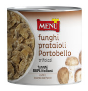 Funghi Prataioli Portobello trifolati (Portobello button mushrooms)