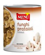 Funghi prataioli trifolati in asettico (Champignons de couche sautés à l'ail et au persil sous atmosphère aseptique)
