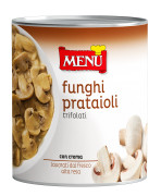 Funghi prataioli - Button mushrooms with oil, garlic and parsley under aseptic technology
