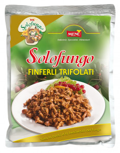 Solofungo Finferli Trifolati - Solofungo Chanterelle mushrooms prepared with oil, garlic and parsley Bag 800 g nt. wt.