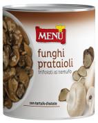 Prataioli trifolati al tartufo - Button mushrooms with truffles in oil, garlic and parsley