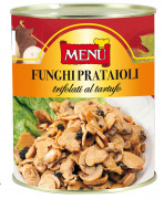 Prataioli trifolati al tartufo - Button mushrooms with truffles in oil, garlic and parsley