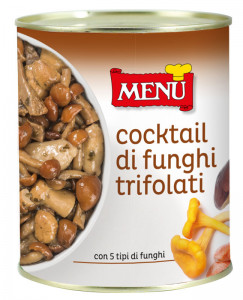 Cocktail di funghi trifolati - Cocktail of mushrooms prepared with garlic, parsley and oil Tin 810 g nt. wt.