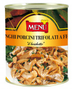 "Funghi Porcini ""Boschetto"" a fette trifolati - ""Boschetto"" Sliced Porcini Mushrooms with olive oil, garlic and parsley"