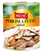 Porcini a fette trifolati - Sliced porcini mushrooms with olive oil, garlic and parsley