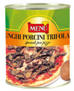Porcini trifolati speciali per pizze - Special porcini mushrooms in oil, garlic and parsley for pizzas