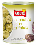 Carciofi trifolati interi - Whole Artichokes prepared with oil, garlic and parsley