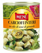 Carciofi interi in olio di semi di girasole - Whole artichokes in sunflower seed oil