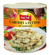Carciofi a fettine al naturale - Artichoke slices naturally preserved