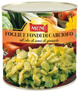 Foglie e fondi di carciofo in olio di semi di girasole - Artichoke leaves and bottoms in sunflower seed oil