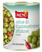 Délicieuses olives Castelvetrano à l'huile