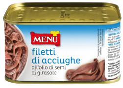 Filetti di Acciughe all'olio di semi di girasole - Anchovy fillets in sunflower seed oil