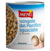 Vongole del Pacifico clams naturally preserved