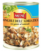Unshelled Adriatic clams naturally preserved
