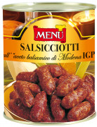 Salsicciotti all'aceto balsamico di Modena I.G.P. (Kleine Salamis mit Balsamico-Essig aus Modena g.g.A.)