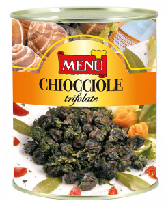 Chiocchiole trifolate - Snails prepared in oil with garlic and parsley Tin 790 g nt. wt.