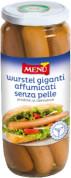 Würstel giganti affumicati senza pelle - Giant skinless smoked frankfurters