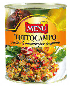 Tuttocampo – Tuttocampo Vegetables - Mixed vegetables Tin 830 g nt. wt.