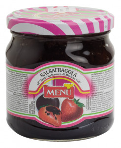 Salsafragola all'aceto balsamico di Modena I.G.P. - Salsafragola with PGI Modena balsamic vinegar Glass jar 450 g nt. wt.