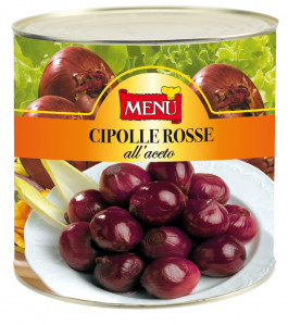 Cipolle rosse all'aceto – Red Onions in Vinegar Tin 2600 g nt. wt.