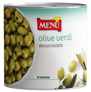 Olive verdi denocciolate - Pitted Green Olives Tin 2550 g nt. wt.