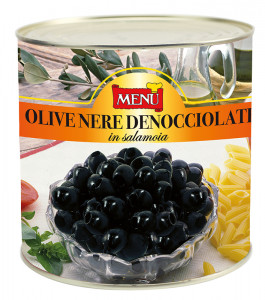 Olive nere denocciolate - Pitted Black Olives Tin 2400 g nt. wt.