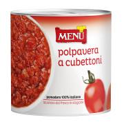 Polpa di pomodoro «Polpavera a cubettoni» (Pulpa de tomate cubeteada)