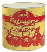 "Polpa di pomodoro ""Polpavera a cubettoni"" - ""Polpavera"" tomato cubes"