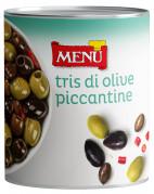 Tris di olive piccantine - Spicy Olive Trio