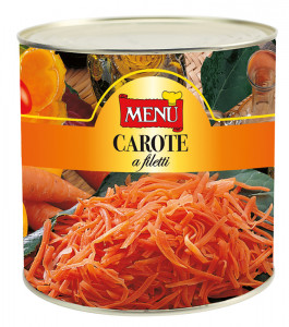 Carote a filetti - Julienned Carrots Tin 2550 g nt. wt.