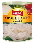 Cipolle bianche a rondelle (Cebollas blancas en aros)
