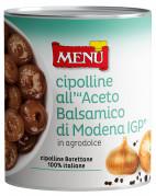 Cipolline all'aceto balsamico di Modena I.G.P. - Baby onions in Balsamic vinegar of Modena PGI