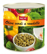 Olive verdi a rondelle (Aceitunas verdes en rodajas)