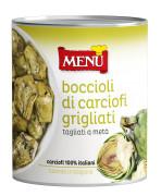 Boccioli di carciofi Grigliati -  Grilled artichokes hearts halved
