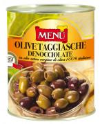 Olive taggiasche denocciolate (Taggiasca-Oliven, entsteint)
