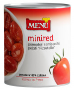 Mini red Pomodori semisecchi pelati Pizzutello - Semi-dried peeled Pizzutello tomatoes