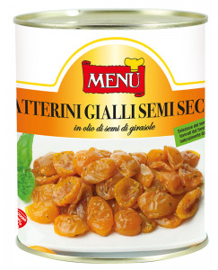 Datterini gialli semisecchi - Semi-dried yellow cherry tomatoes Tin 800 g nt. wt.