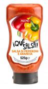 Pepper and orange sauce