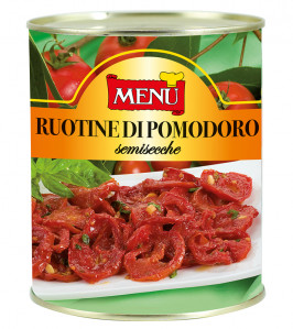Ruotine di pomodoro semisecche - Wheels of semi- dried tomatoes Tin 780 g nt. wt.