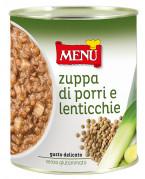 Zuppa di Porri e Lenticchie (Sopa de puerros y lentejas)