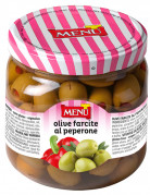Olive farcite al peperone (Aceitunas rellenas de pimiento)