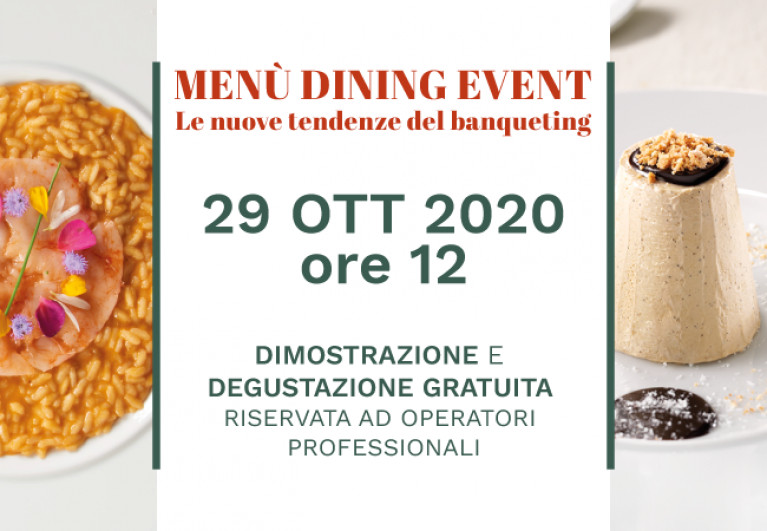 Menù Dining Event - Le nuove tendenze del banqueting